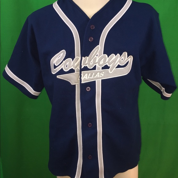 wholesale dealer b2dd1 be372 Vintage Dallas Cowboys baseball style jersey